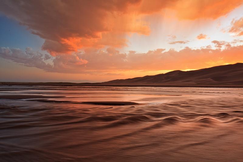 Great Sand Dunes, Colorado, Medano Creek, photo
