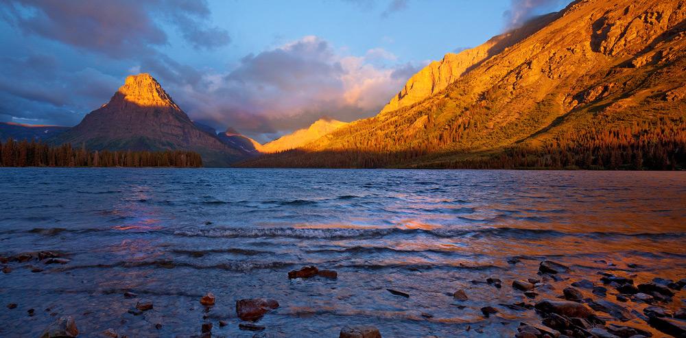 Glacier National Park, Montana,Two Medicine Lake,sunrise, photo