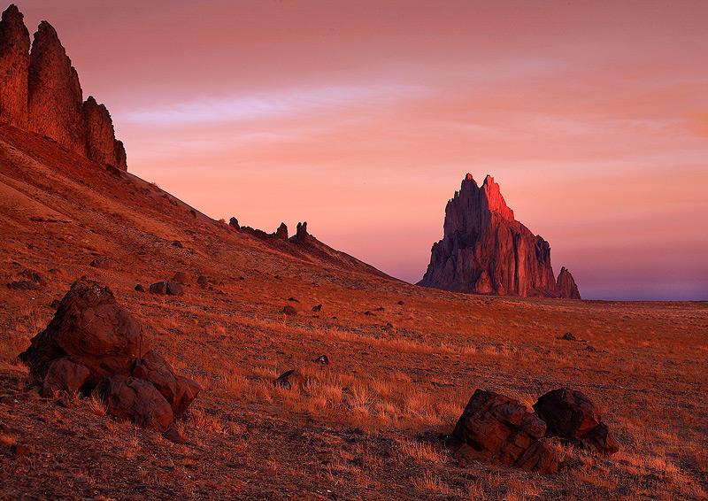 Shiprock,New Mexico,sunrise, photo