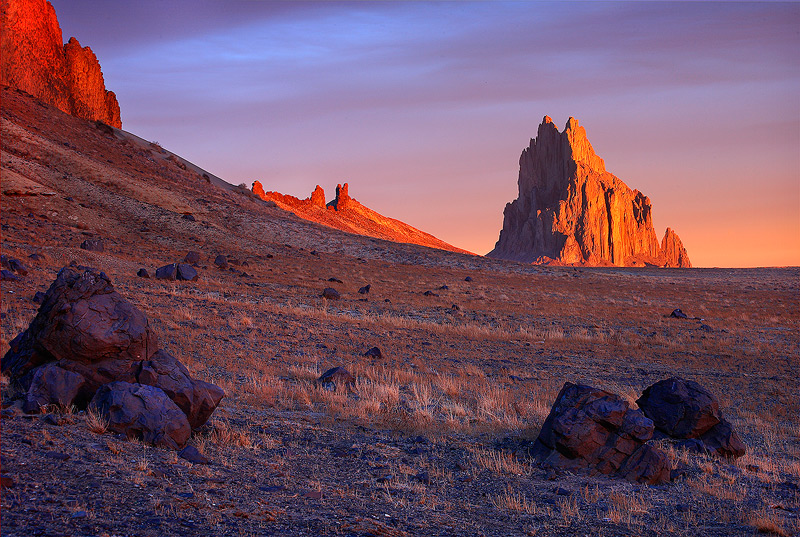 Shiprock,New Mexico,sunrise, photo