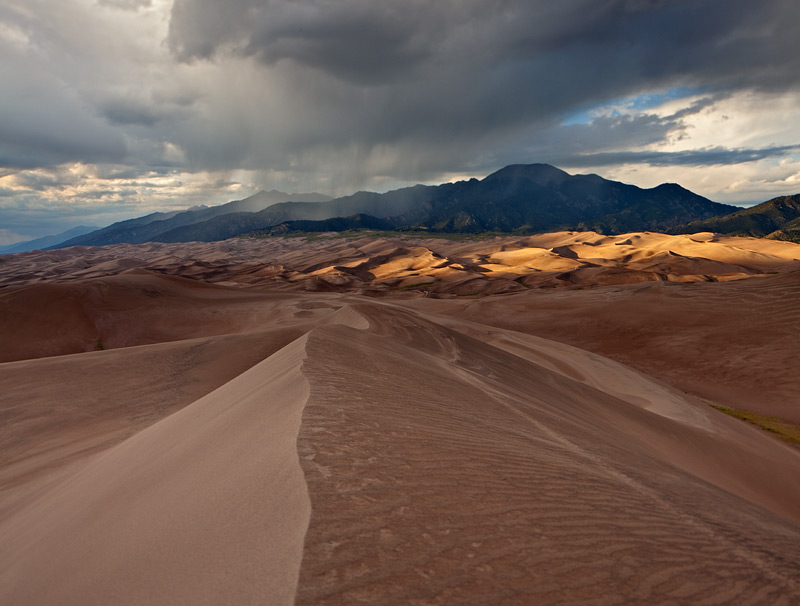 Great Sand Dunes,Colorado,High Dune,storm, photo