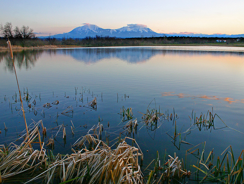 Spanish Peaks reflection.