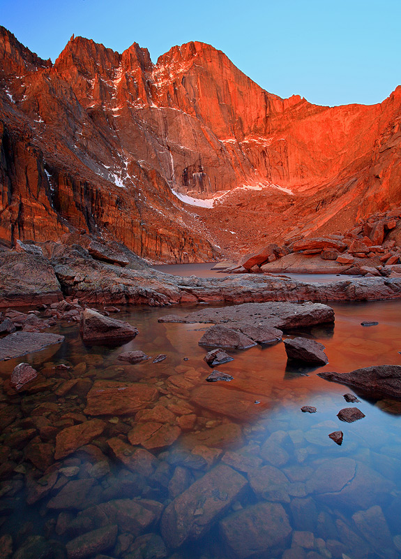 Chasm Lake,Rocky Mountain,Longs Peak,Colorado, photo