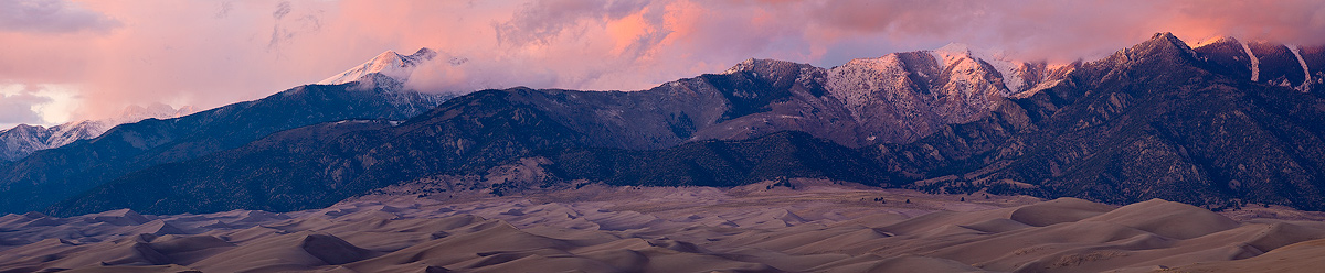 Great Sand Dunes,Colorado,panorama,sunset, photo