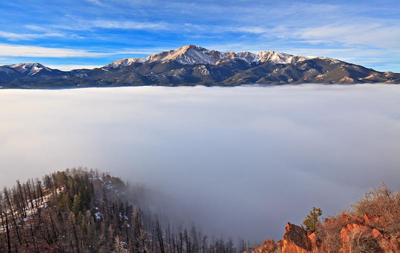 Pikes Peak,Colorado,Manitou,clouds, photo