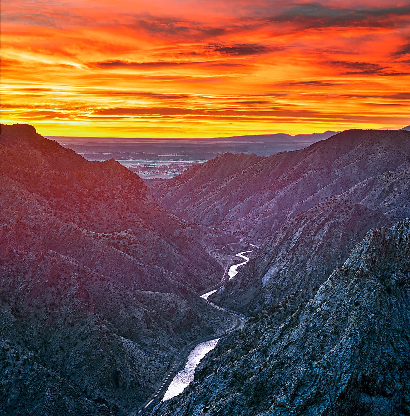 Royal Gorge,sunrise, photo