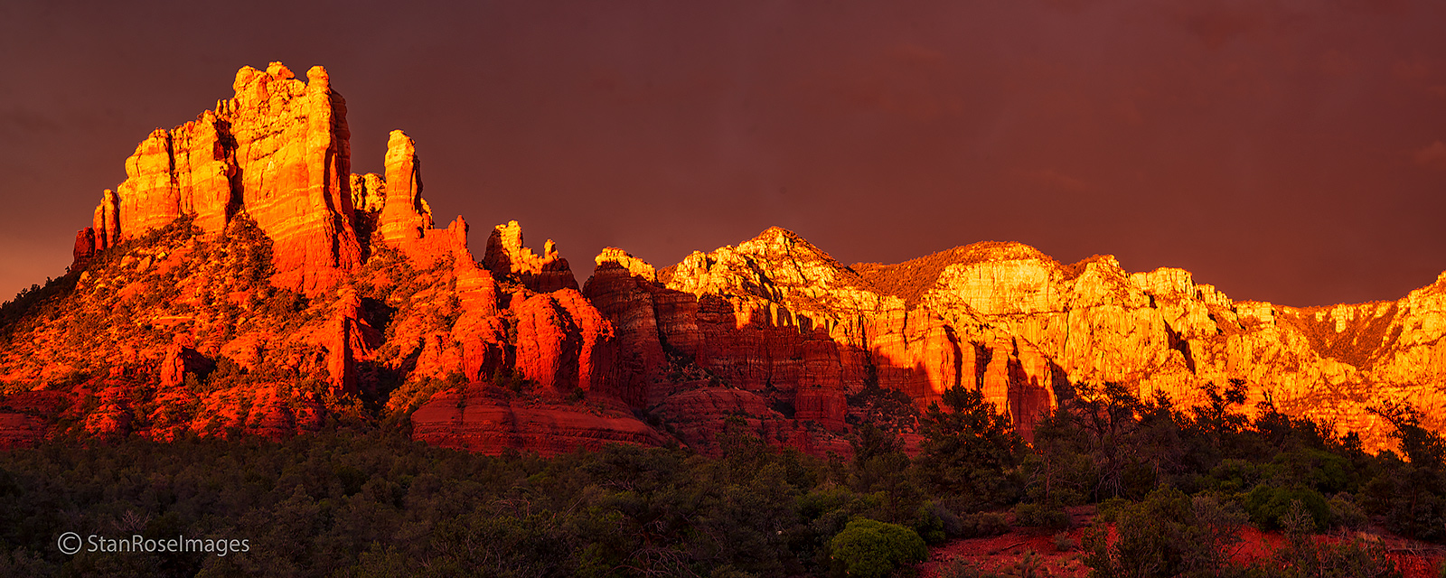 sunset, sedona, monsoon, arizona, photo