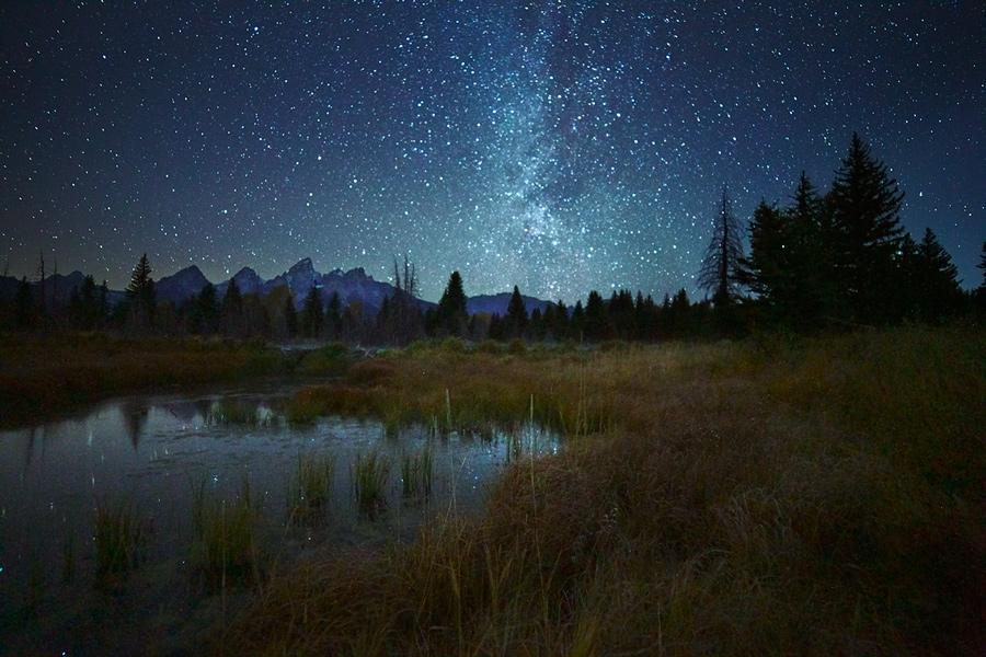 Grand Teton,Wyoming,night, photo