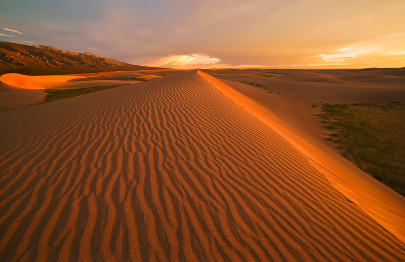 sunset,Great Sand Dunes,Colorado, photo
