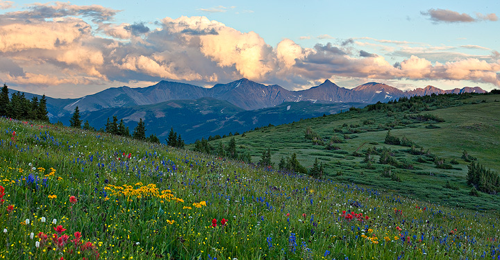 Shrine Ridge,Colorado,sunset, photo