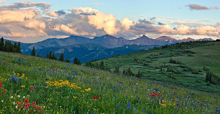 Shrine Ridge,Colorado,sunset, photo