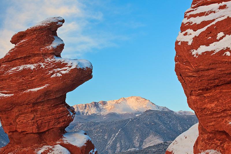 Pikes Peak,Siamese Twins,Garden of the Gods,Colorado, photo