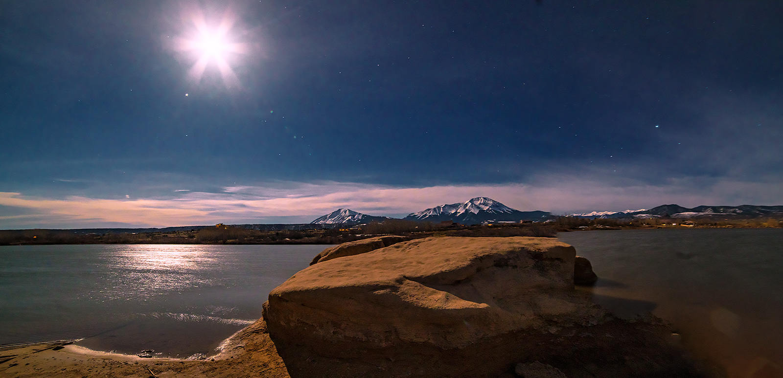 Spanish Peaks, La Veta, Colorado, moonrise, photo