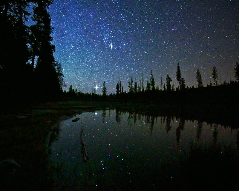 String Lake,Grand Teton,Wyoming,night, photo