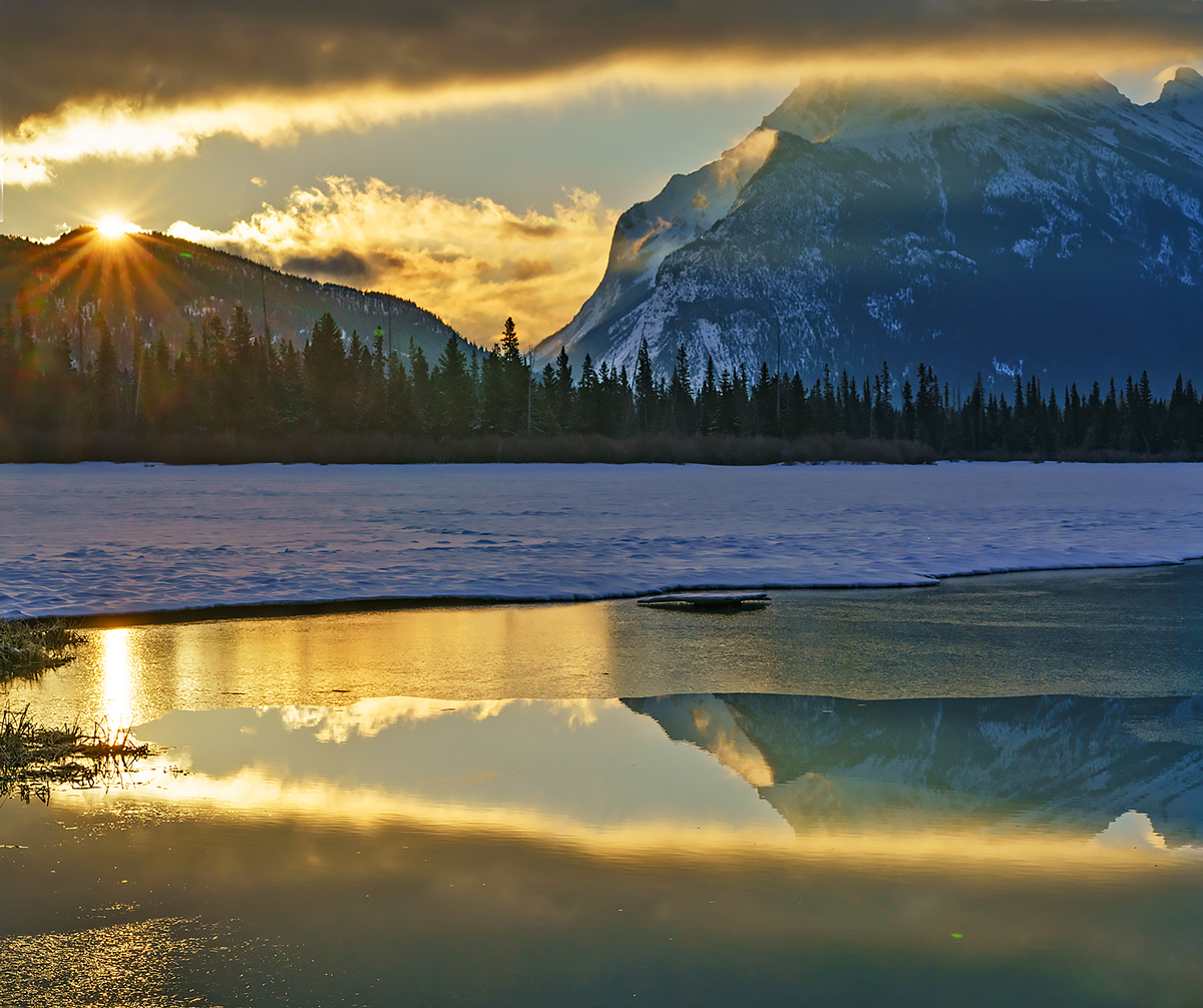 Banff,Vermillion Lakes,Rundle,sunrise, photo