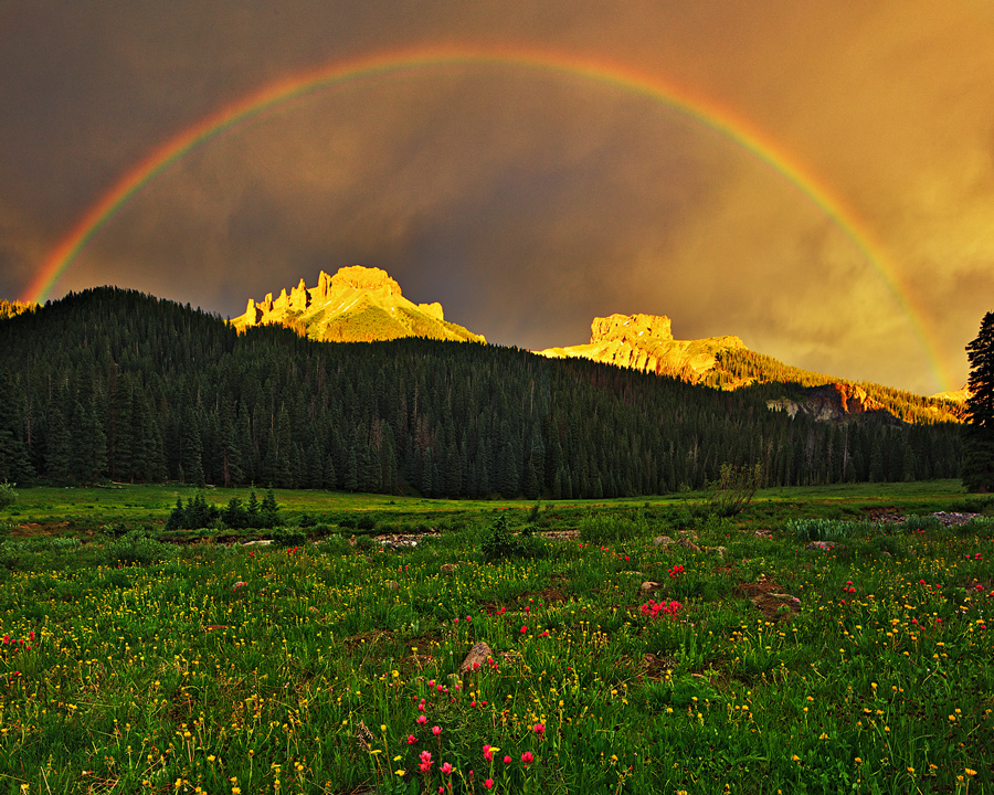 rainbow,Owl Creek Pass,Cimarron,thunderstorm