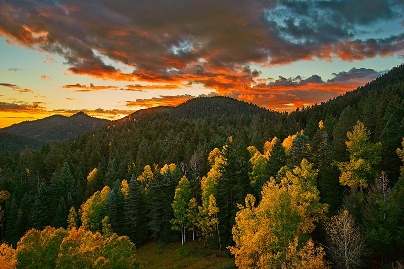 Wet Mountains,sunrise, photo