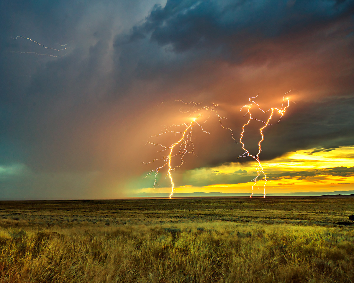 thunderstorm, San Luis, Great Sand Dunes, Colorado, sunset, lighting, photo