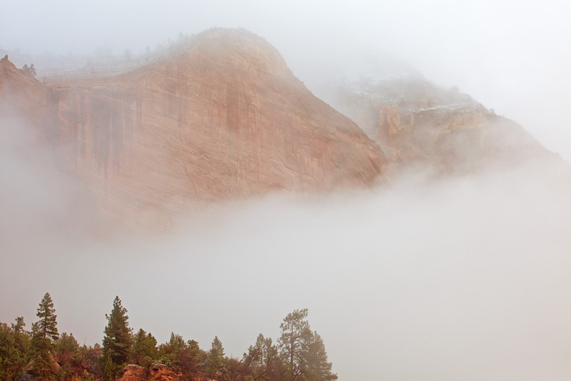 Zion National Park,Utah,fog, photo