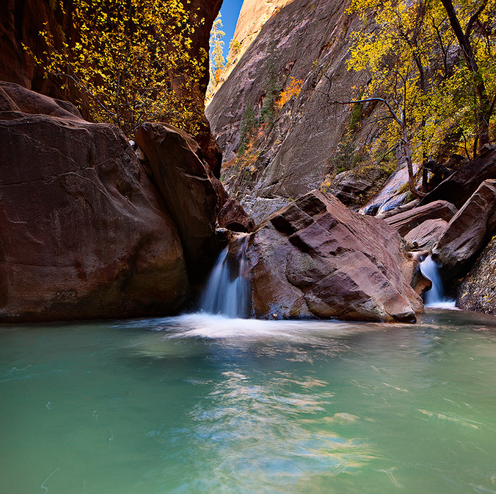 Orderville Canyon,Zion National Park,waterfall, photo