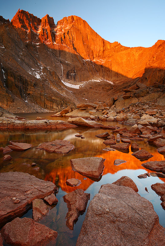 Chasm Lake,Longs Peak,Colorado, Rocky Mountain, photo