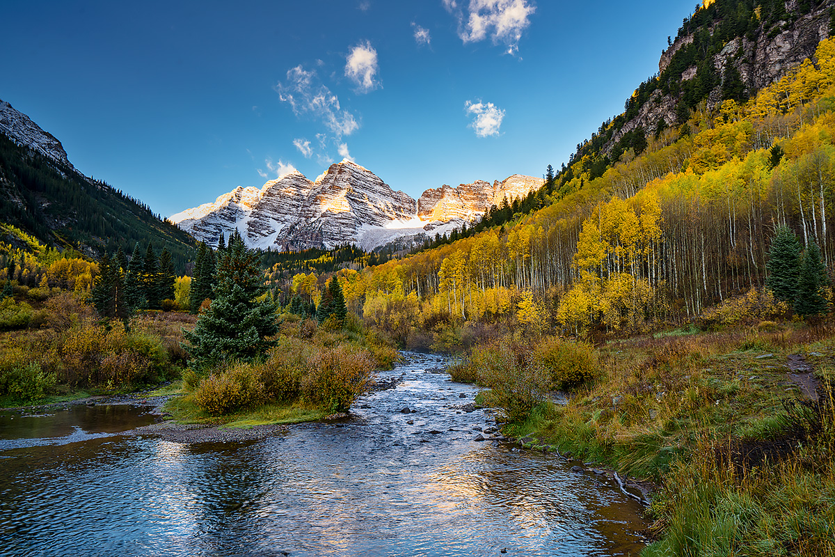 Maroon Bells,Aspen,Colorado,sunrise, photo