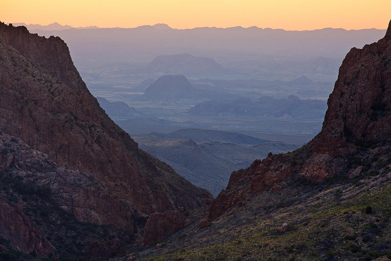 Big Bend,Texas,the Window,sunset, photo