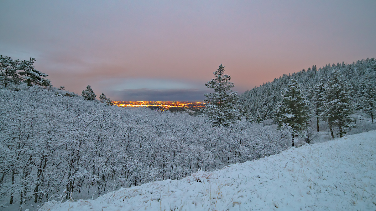 Blodgett Peak, Colorado, snow, sunset, photo