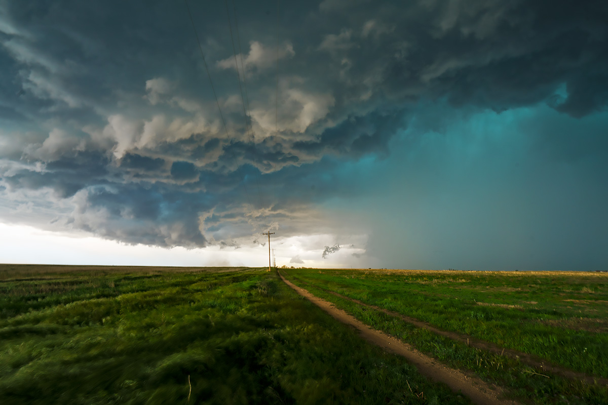 supercell, Burlington, thunderstorm, hail, Colorado, photo