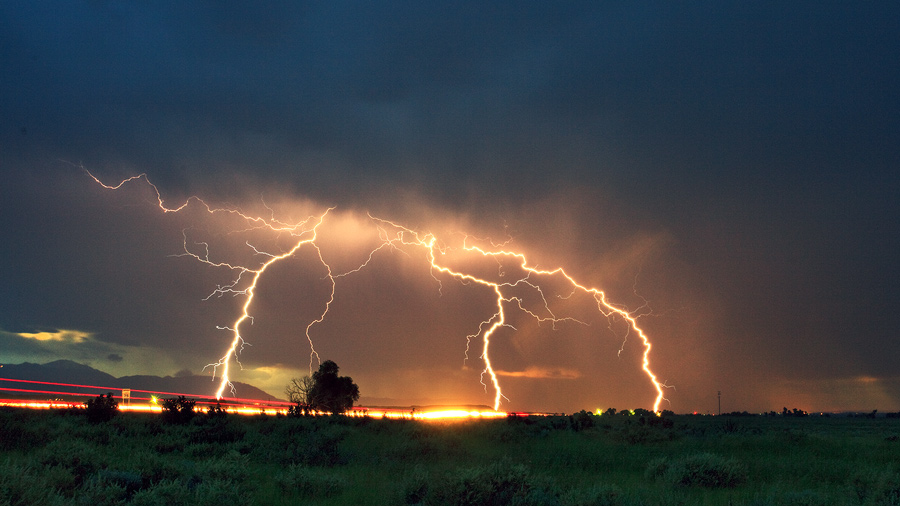 monsoon,Colorado Springs,lighting, photo
