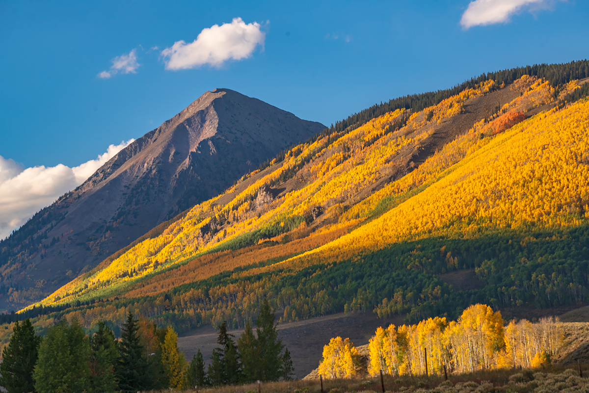 Gothic, sunset, Crested Butte, Colorado, fall colors, photo