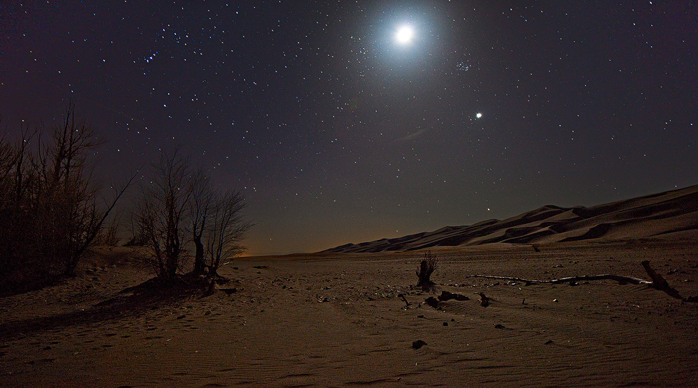 Great Sand Dunes,Colorado,moon,venus, photo