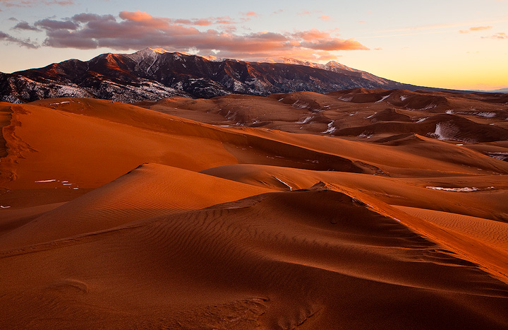 Great Sand Dunes,Blanca,sunset, photo