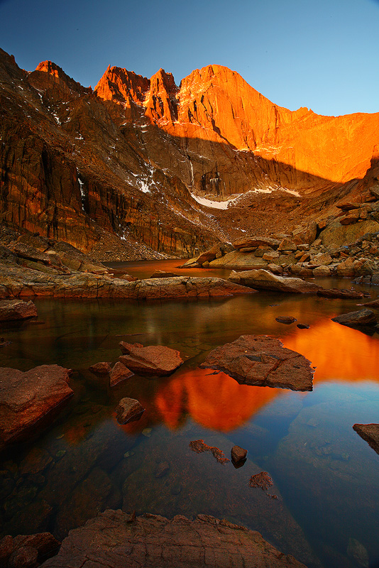 Longs Peak,Chasm Lake,Rocky Mountain National Park, Colorado, photo