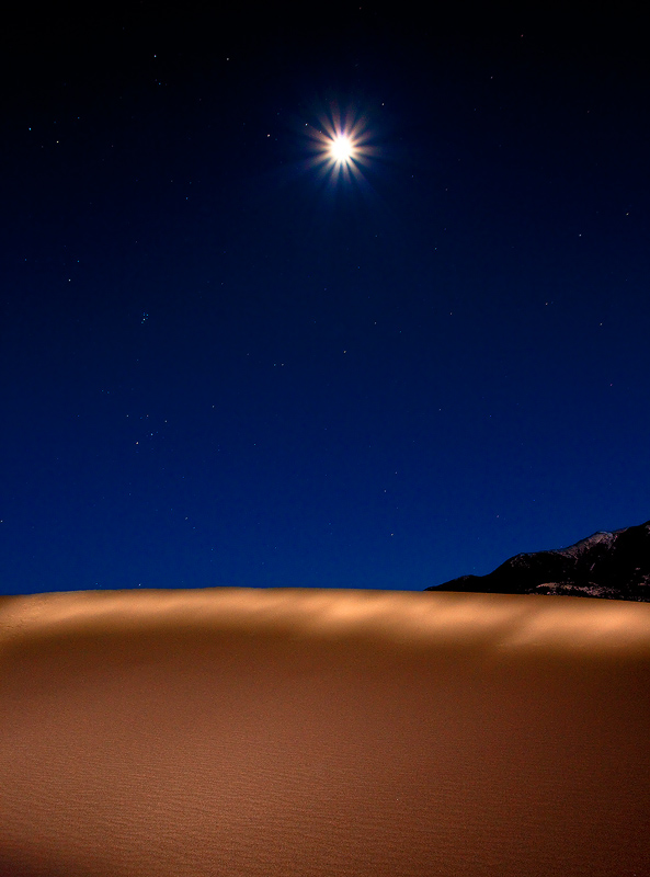 Great Sand Dunes,Colorado,moon, photo
