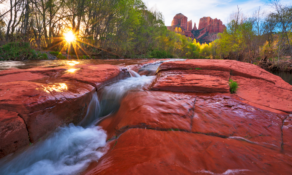 sunrise, red rock crossing,sedona, photo