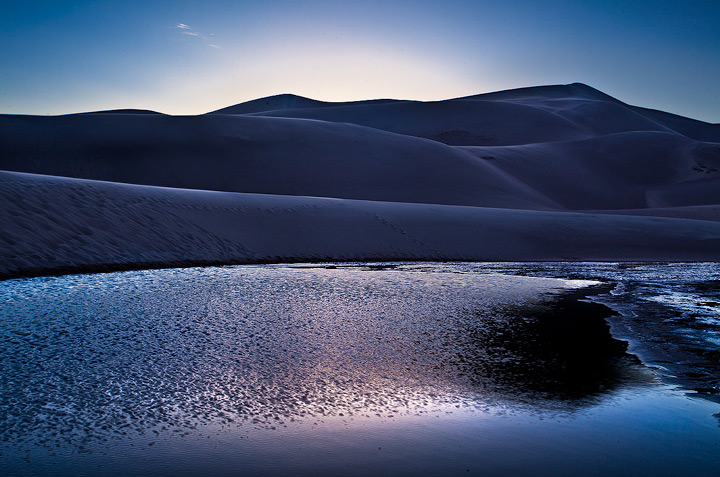 medano creek,great sand dunes,colorado,blue, photo