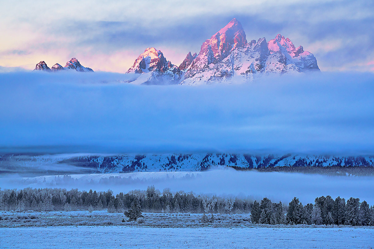 Grand Teton,sunrise,Wyoming, photo