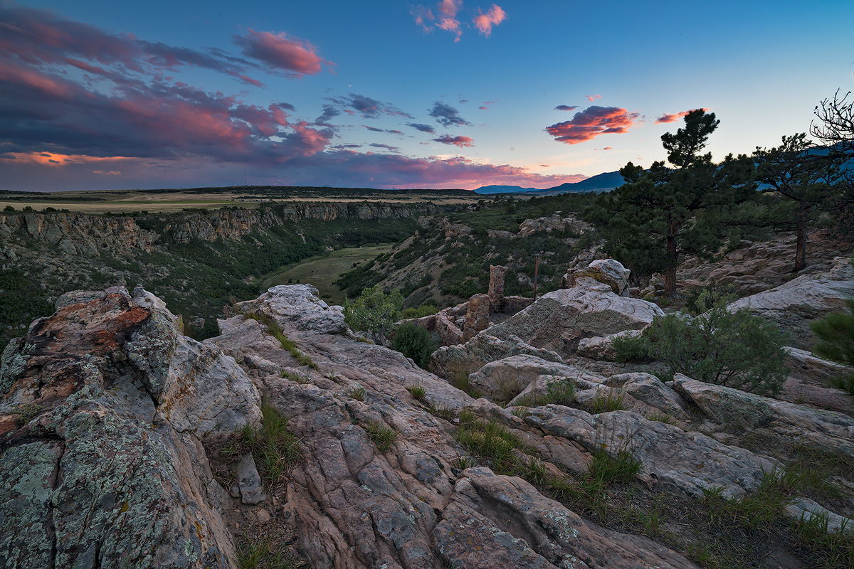 greneros gorge,sunset,colorado, photo