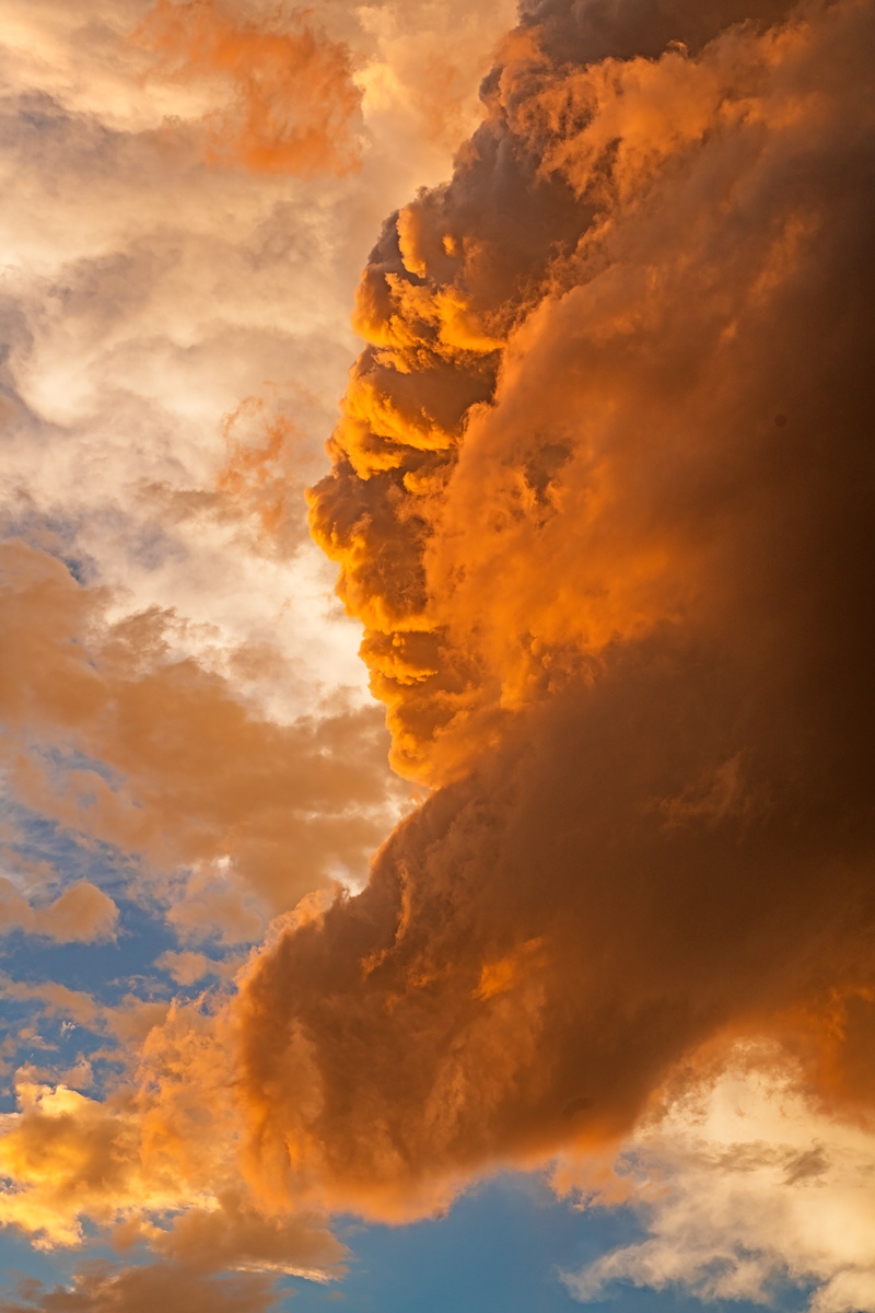 thunderstorm, sunset, photo