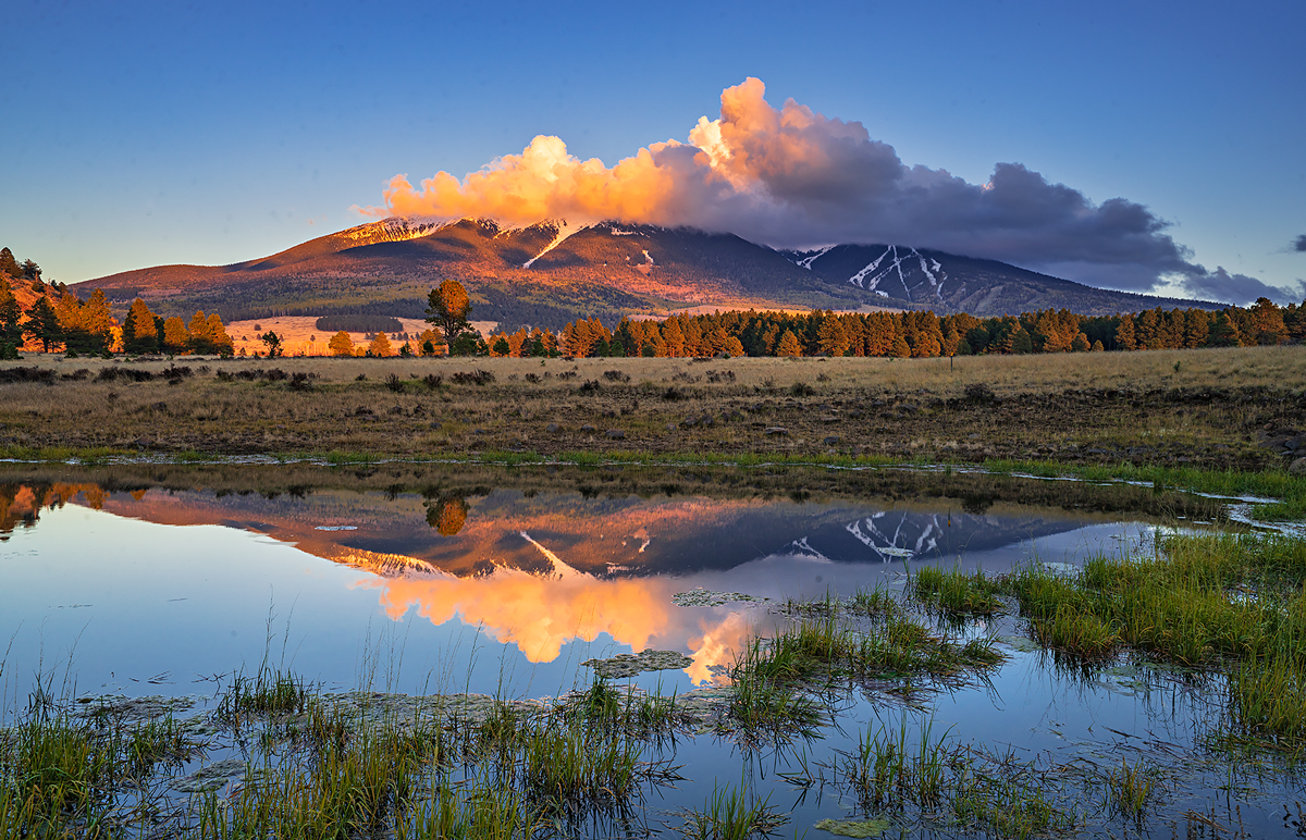 Hart Prairie, San Francisco Peaks, pond, Arizona, Flagstaff, photo