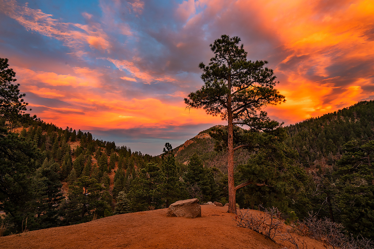 North Cheyenne Canyon,Colorado,sunset,helen hunt, photo