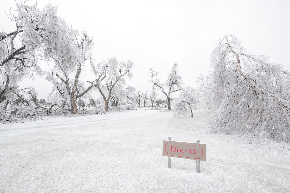 dodge city,ice storm,kansas,cemetery, photo