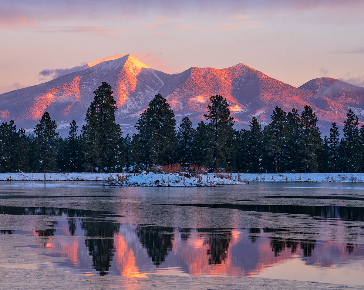 San Francisco Peaks,Kachina Wetlands,flagstaff,arizona,sunrise, photo