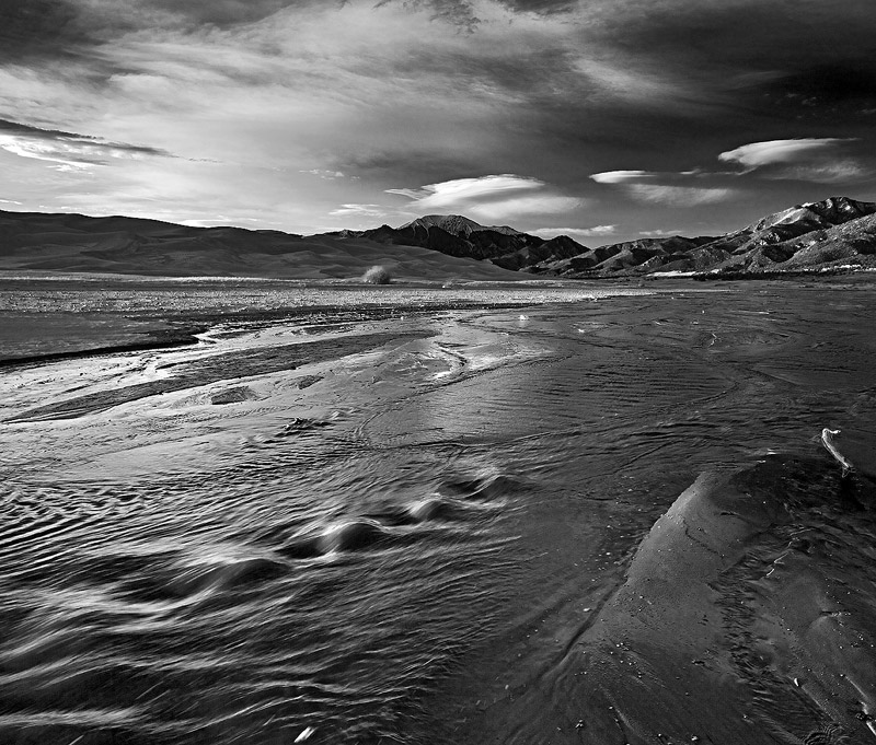 Medano Creek, Great Sand Dunes, Colorado, photo