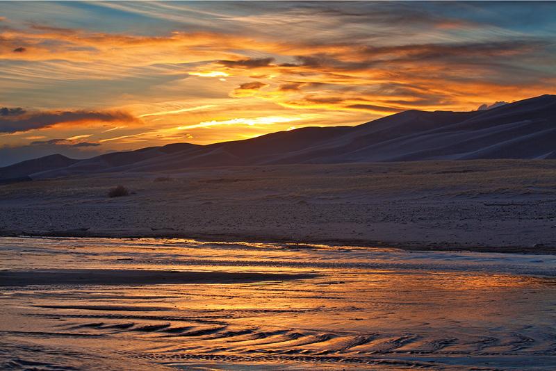 Medano Creek, Great Sand Dunes, Colorado, photo