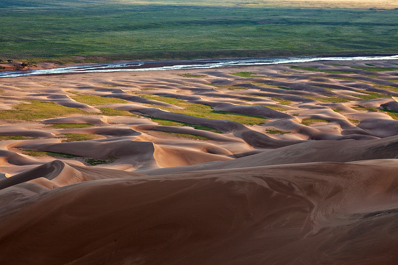 Great Sand Dunes,Colorado,Medano Creek, photo