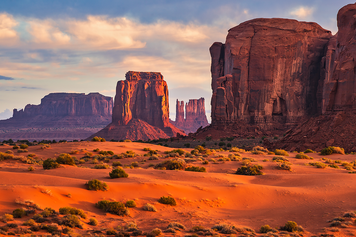 Sunrise from the heart of Monument Valley.