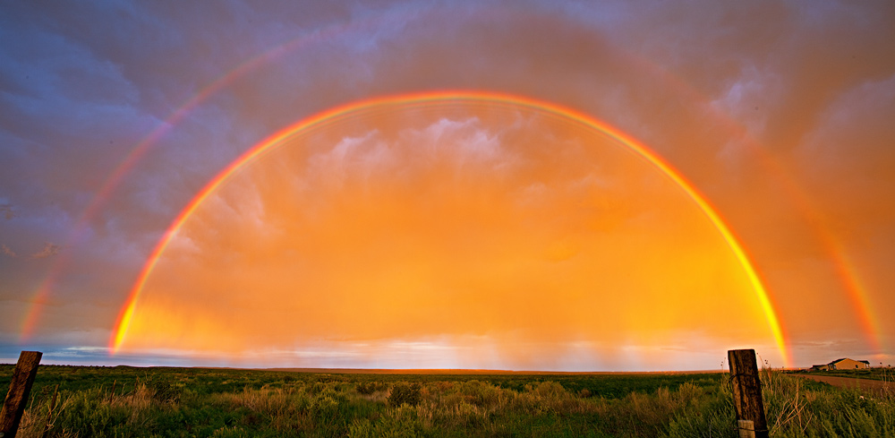 rainbow,sunset,Colorado,Pueblo West