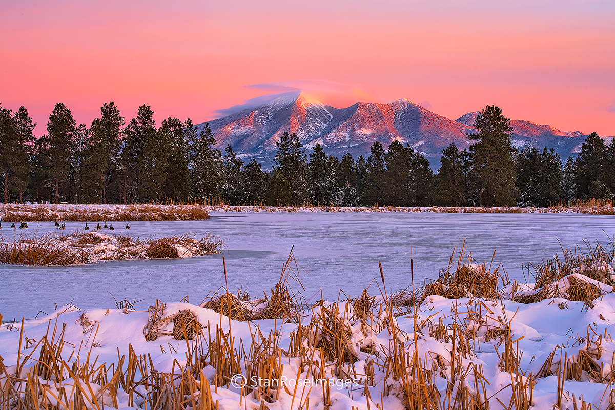 Kachina,Flagstaff,Arizona,San Francisco Peaks,sunrise,winter, photo